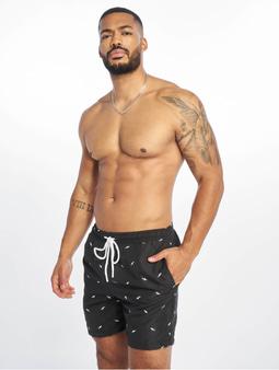 Urban Classics Embroidery Swim Shorts Shark/Black/White
