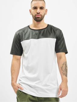 Urban Classics Football Mesh Long T-Shirt White/Black