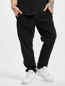 Urban Classics Formula Cropped Peached Interlock Sweat Pants Black