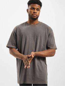 Urban Classics Heavy Oversized Contrast Stitch T-Shirt Black