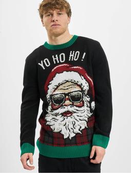 Urban Classics Ho Ho Ho Sweater Black