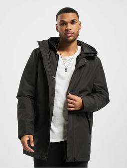 Urban Classics Hooded Long Winter Jacket Black