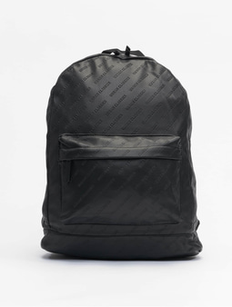 Urban Classics Imitation Leather Backpack Black