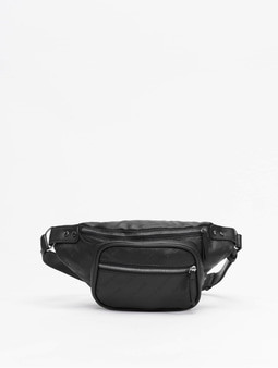 Urban Classics Imitation Leather Shoulder Bag Black