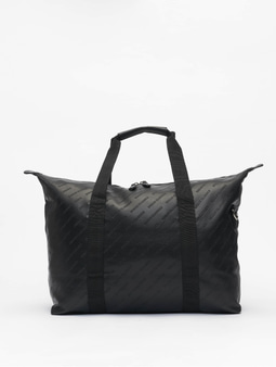 Urban Classics Imitation Leather Weekender Bag Black