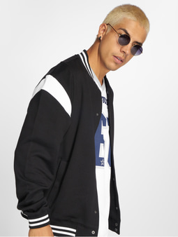 Urban Classics Inset College Jacket Black/White