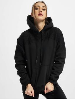 Urban Classics Lace Inset Hoody Black