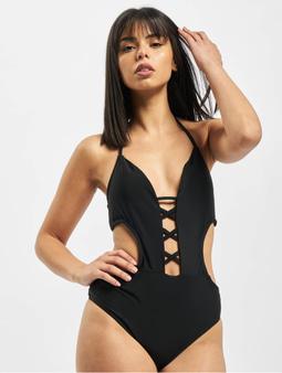 Urban Classics Lace Up Swimsuit Black