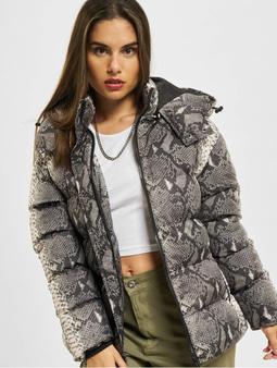 Urban Classics Ladies AOP Jacket Puffer Jacket Grey Snake