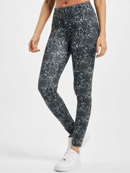 Urban Classics Ladies AOP Leggings Black/White