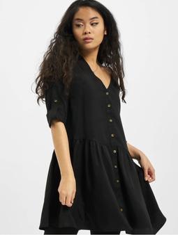 Urban Classics Ladies Babydoll Shirt Dress Black