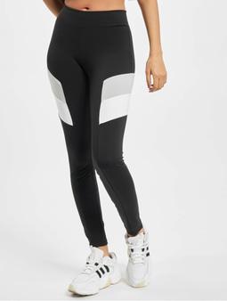 Urban Classics Ladies Color Block Leggings Black/Grey