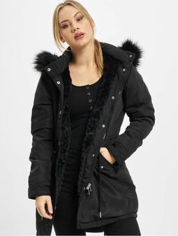 Urban Classics Ladies Faux Fur Parka Black