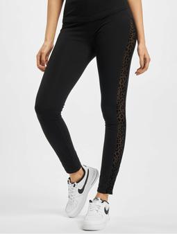 Urban Classics Ladies Flock Lace Stripe Leggings Black
