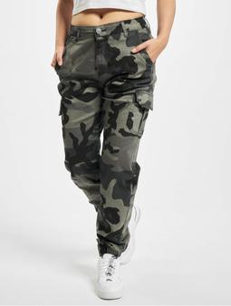 Urban Classics Ladies High Waist Cargo Pants Woodcamo