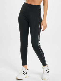 Urban Classics Ladies High Waist Reflective Leggings Black