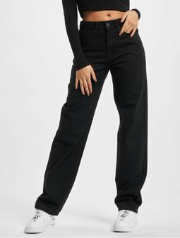 Urban Classics Ladies High Waist Straight Fit Jeans Black Wash