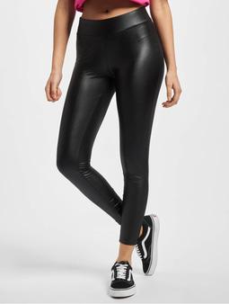 Urban Classics Ladies Imitation Leather Leggings Black