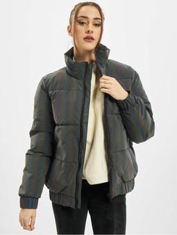 Urban Classics Ladies Iridescent Reflectiv Puffer Jacket Rainbow Darksilver