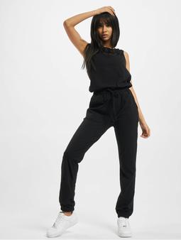 Urban Classics Ladies Lace Block Jumpsuit Black