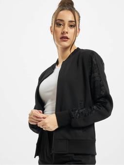 Urban Classics Ladies Lace Bomber Jacket Black