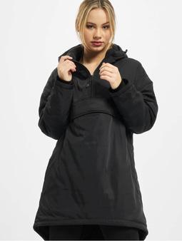 Urban Classics Ladies Long Oversized Pull Over Jacket Black