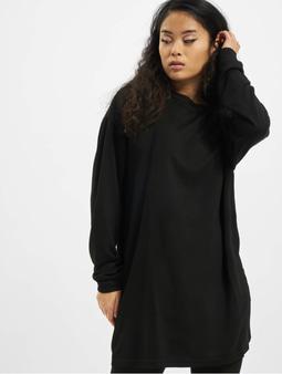 Urban Classics Ladies Modal Terry Crew Dress Black