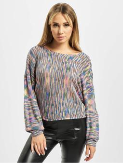 Urban Classics Ladies Oversized Sweater Sweatshirt Girly Pink/Blue