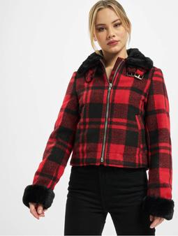 Urban Classics Ladies Plaid Jacket Firered/Blk