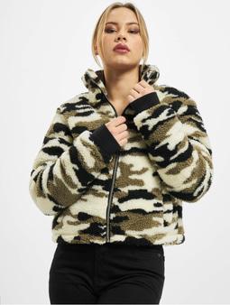 Urban Classics Ladies Sherpa Jacket Wood Camo
