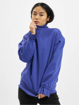 Urban Classics Ladies Turtleneck Sweatshirt Blue Purple