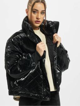 Urban Classics Ladies Vanish Oversized Diamond Quilt Winter Jacket Black