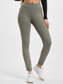 Urban Classics Ladies Vichy Check High Waist Leggings Offwhite/Black