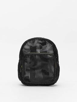 Urban Classics Lady Mesh Transparent Backpack Black