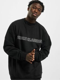 Urban Classics Mid Logo Oversized Crew Longsleeve Black