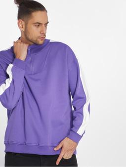 Urban Classics Oversize Stripe Troyer Sweatshirt Honey/Black