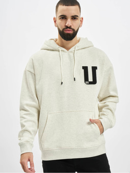 Urban Classics Oversized Frottee Patch Hoody Light Grey