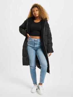 Urban Classics Oversized Hooded Puffer Coat Black/Black