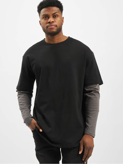 Urban Classics Oversized Shaped Double Layer T-Shirt Black/White