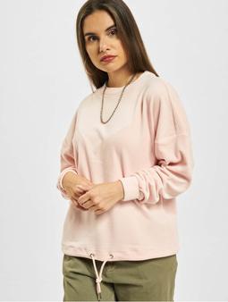 Urban Classics Oversized Velvet Sweater Pink