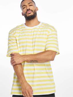 Urban Classics Oversized Yarn Dyed Bold Stripe Tee T-Shirt Olive/Black