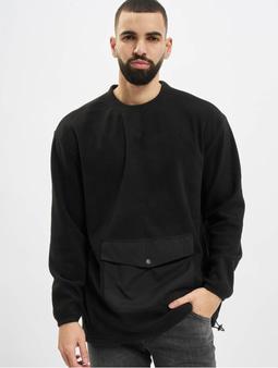 Urban Classics Polar Fleece Pocket Crew Longsleeve Black