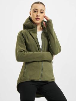 Urban Classics Polar Fleece Zip Hoody Olive