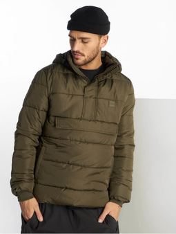 Urban Classics Pull Over Puffer Jacket Black