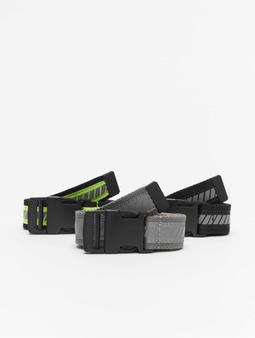 Urban Classics Reflective Belt 3-Pack Belt Black/Neon Yellow/Silvern/Black/Grey