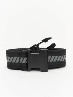 Urban Classics Reflective Belt Belt Black/Black/Silvern