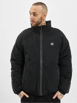 Urban Classics Reflective Piping Winter Jacket Black