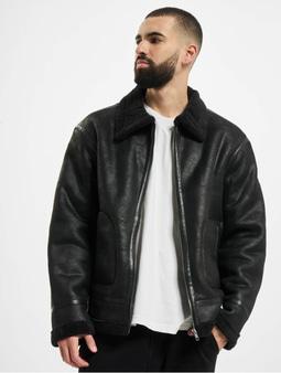 Urban Classics Shearling Winter Jacket Black/Black