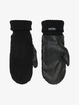 Urban Classics Sherpa Imitation Leather Gloves Black