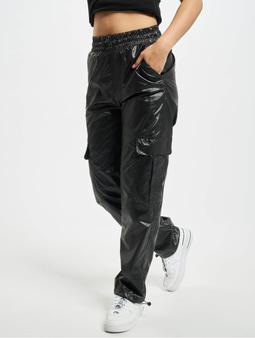 Urban Classics Shiny Cargo Track Cargo Pants Black
